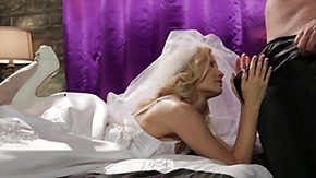 Wedding, Bed, Blonde, Blowjob, Boots, Bride
