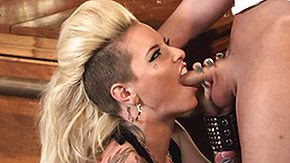 Punk, Babe, Big Tits, Blonde, Blowjob, Boobs
