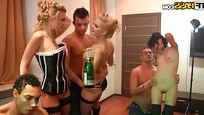 Russian Orgy, Banging, Beauty, Blonde, Boobs, Brunette