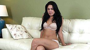 Sofa, Boobs, Brunette, Masturbation, Sofa, Solo