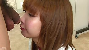 HD Japanese teen does a great job sucking on a hard dick
