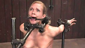 Sybian, BDSM, Blonde, Bondage, Bound, Choking