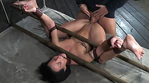 Tongue, BDSM, Bondage, Bound, Brunette, Fucking