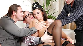 Free Stewardess HD porn She Takes exposed to four 4 exposed to 1 Gang Bangs