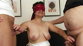 Blindfold, Blindfolded, Blowjob, Brunette, Dildo, Experienced