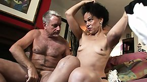 Granny, Blowjob, Brunette, Experienced, Fur, Grandfather
