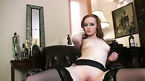 Garter, Brunette, Garter Belt, Leggings, Masturbation, Nylon