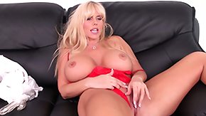 HD Karen Fisher tube Busty blonde babe Karen Fisher toys her cunt more than that shows her ass