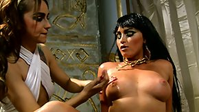Free Cleopatra HD porn videos Cleopatra denotes her courteous ass and gets an oily rubdown by her servant