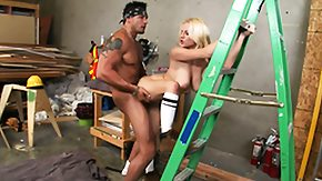 Big As HD porn tube Big bazookas swing as he pounds her off a ladder after this chick blows