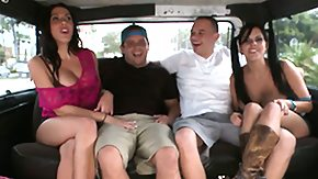 In Bus, Brunette, Bus, Couple, Fucking, Group