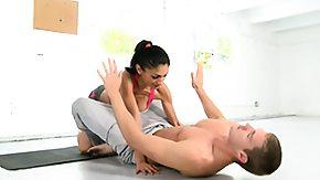 Workout, Blowjob, Brunette, Cumshot, Fitness, Handjob