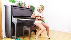 Piano, Big Natural Tits, Big Tits, Blonde, Boobs, Fingering