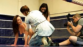 Sophie Lynx, Babe, Brunette, Fight, Lesbian, Lesbian Teen