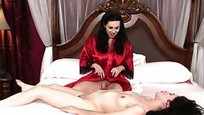Massag, Babe, Bed, Brunette, Lesbian, Massage