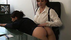 Lesbian Secretary, Babe, Boss, Lesbian, Masturbation, Office