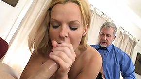 Father, 3some, Babe, Blonde, Brunette, Cum