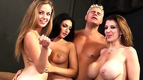 Three Some, Beauty, Blonde, Blowjob, Brunette, Cumshot