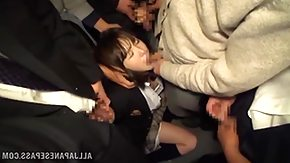 Bus HD Sex Tube schoolgirl gets mouth fucked in a bus