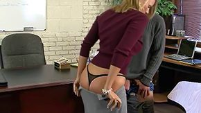 Becca Blossoms, Blonde, Desk, Fucking, High Definition, Lick