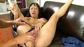 Gaia, Asian, Brunette, Female Ejaculation, Fingering, MILF